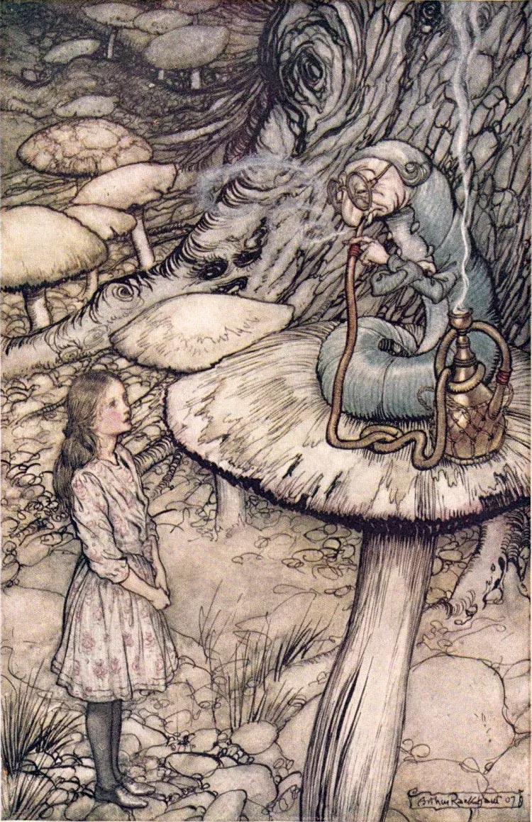 Alice au pays des merveilles, par Arthur Rackam
