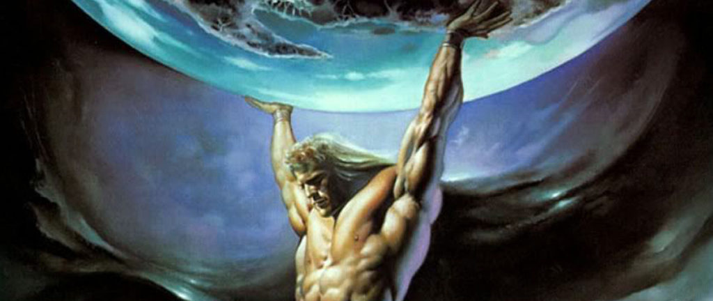 Atlas portant le monde, par Boris Vallejo