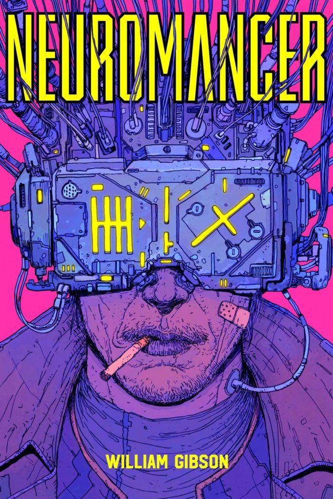 Couverture du Neuromancien, le roman canon du Cyberpunk.